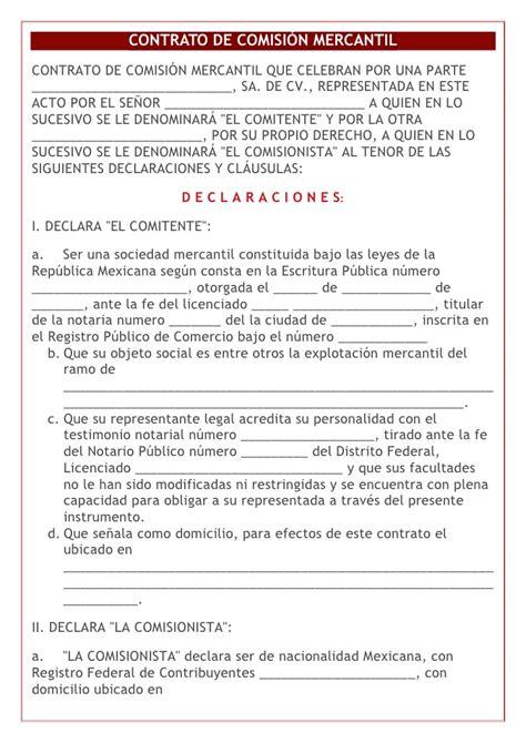 contrato de arrendamiento mexico contrato de comision mercantil para ventas tattoo design