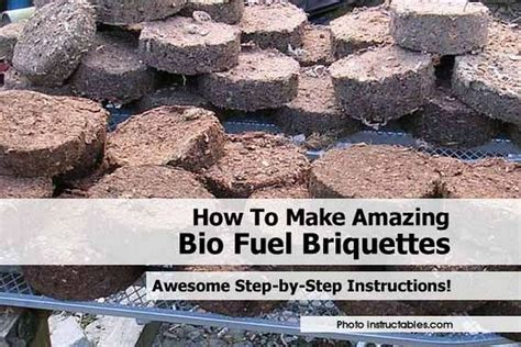 How To Make Paper From Sawdust - how to make amazing bio fuel briquettes