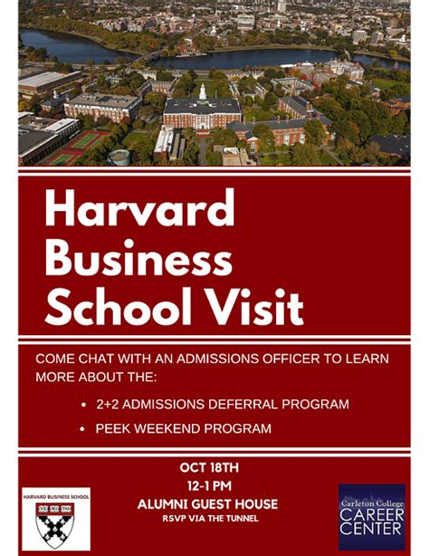 Harvard Mba Dates by Harvard Business School Info Session Career Center