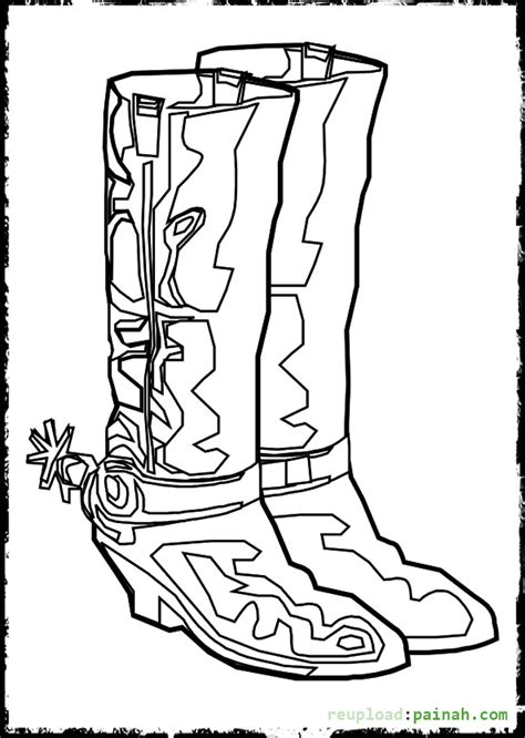 Cowboy Boot Coloring Page Cowboy Boots And Hats Coloring Pages Bestofcoloring Com by Cowboy Boot Coloring Page