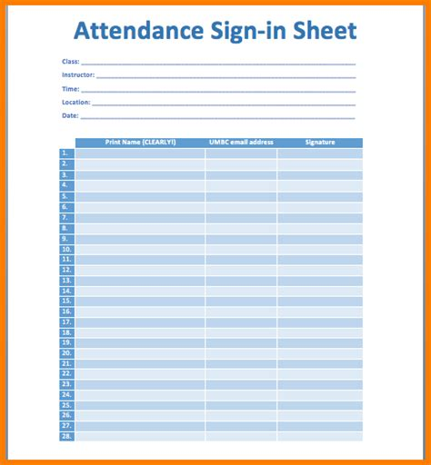 meeting sign in sheet printable sign in sheet visitor