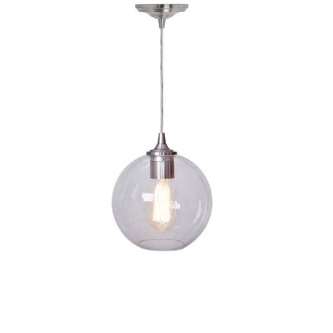 Home Decorators Collection Pendant Lights by Home Decorators Collection Orb Clear And Nickel Ceiling Pendant 1235705420 The Home Depot