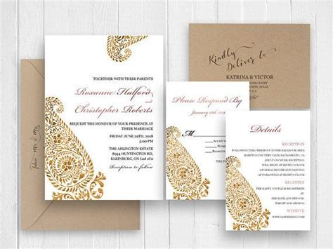 Best 25  Gold wedding invitation sets ideas on Pinterest