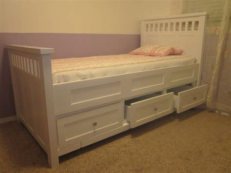 twin size bed with drawers bedroom white painted wooden high bed frame with storage