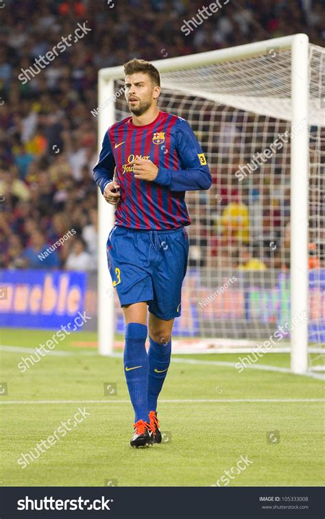 Barcelona Last Match | barcelona august 17 gerard pique of fcb in action