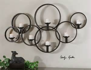 Wrought Iron Candle Sconces Large Metal Wall Decor Pertaining To Your House