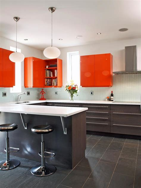 colorful kitchen cabinets ideas 25 colorful kitchens hgtv