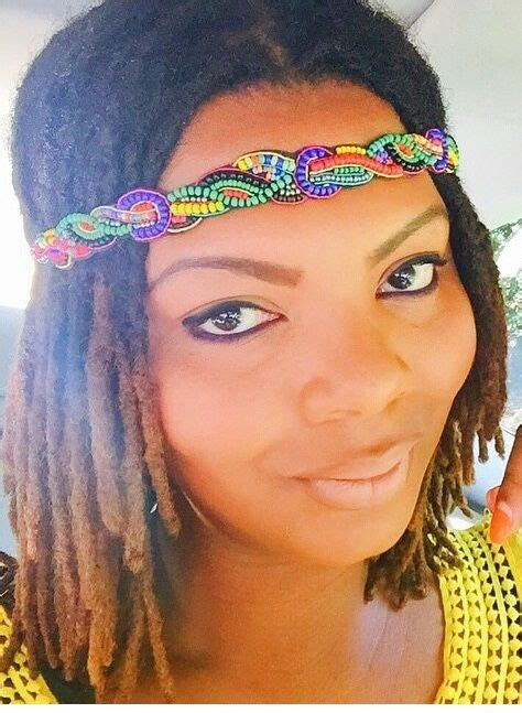loc a loc headband style video headband on short locs loc up pinterest locs