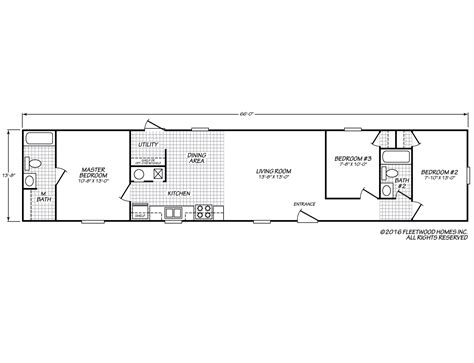 fleetwood mobile home floor plans coronado ultra 14663n fleetwood homes