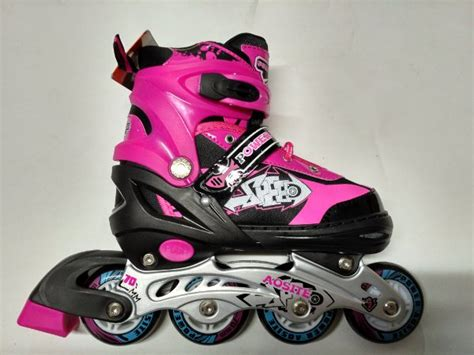 Sepatu Roda Inline Skate Import Pink Fashion Wanita Size 31 42 Gaul jual sepatu roda inline skate bajaj 1000 power aosite ban karet pink di lapak gema sports