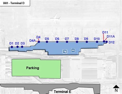 houston airport map terminal c houston intercontinental airport iah terminal d map