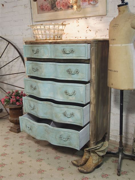 shabby chic painted dressers painted cottage chic shabby aqua dresser ch31