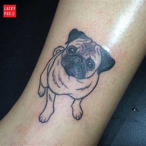 leg pug tattoo by paula freitas aquino brazil www