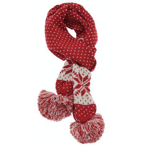 winter knit scarf womens fairisle winter knit scarf thermal warm ebay