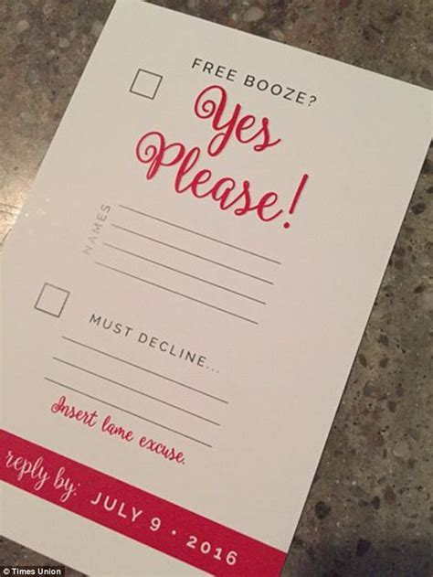 Bride to be's wedding RSVP card causes a stir on Twitter