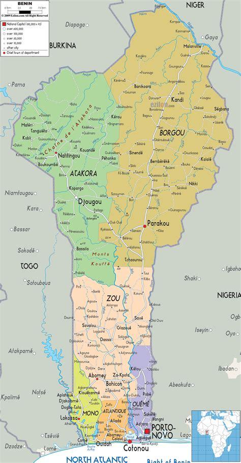 benin on the map map of benin africa