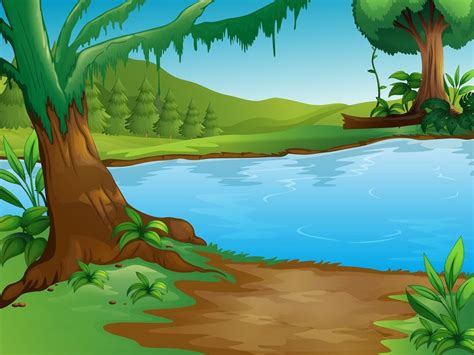 Rainforest Wall Murals forest clipart african landscape pencil and in color