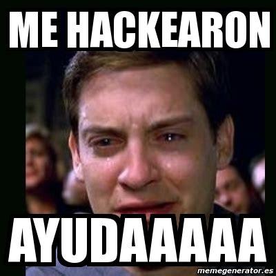 Meme Me - meme crying peter parker me hackearon ayudaaaaa 2692379