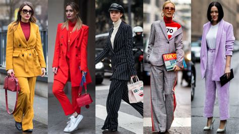 street style crowd wore  sorts  suits  day