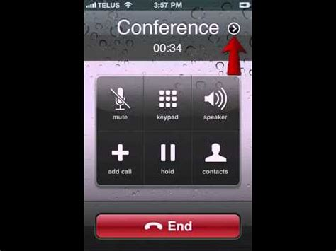 conference call on iphone 3 way call