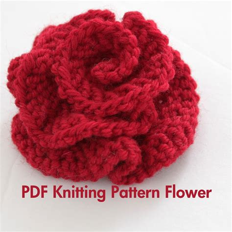 free patterns and on flower hair pattern knitted flower pdf pattern very easy photo tutorial