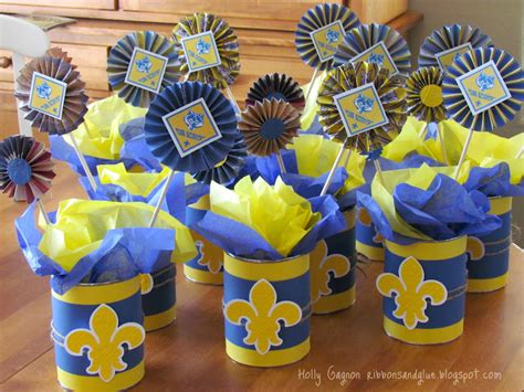 cub scouts blue and gold banquet centerpieces