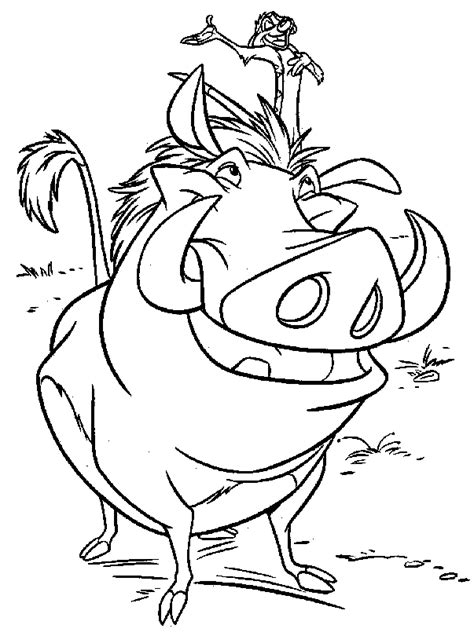 lion king timon  pumbaa coloring page adult coloring