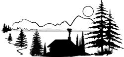 Cottage Silhouette by Cabin Silhouette Clipart Finders