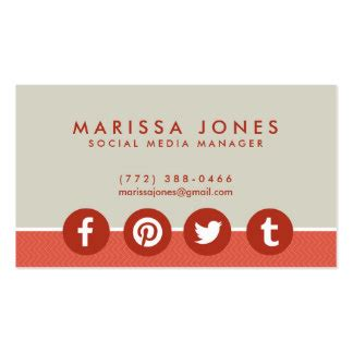 Social Media Icons Business Cards Templates Zazzle Business Card Template With Social Media Icons