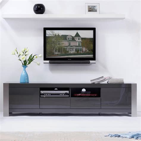 """B Modern BM 100 GRY Composer 79"""" Contemporary TV Stand in"""
