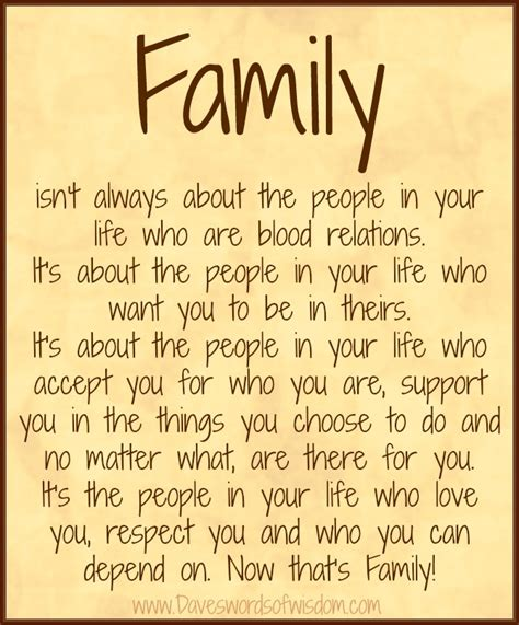 Family Quotes Daveswordsofwisdom What Is Family All About