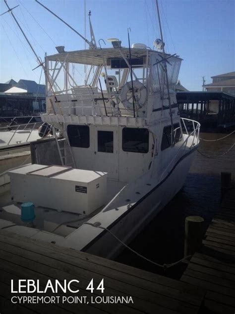 used deck boats for sale louisiana for sale used 1985 leblanc boat works 44 in cypremort