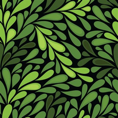 pattern design nature green nature leaves seamless vector background welovesolo