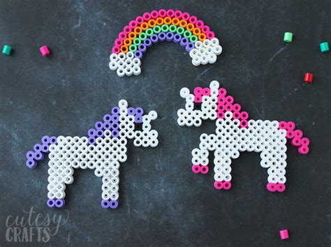 unicorn perler pattern unicorn craft perler bead patterns cutesy crafts