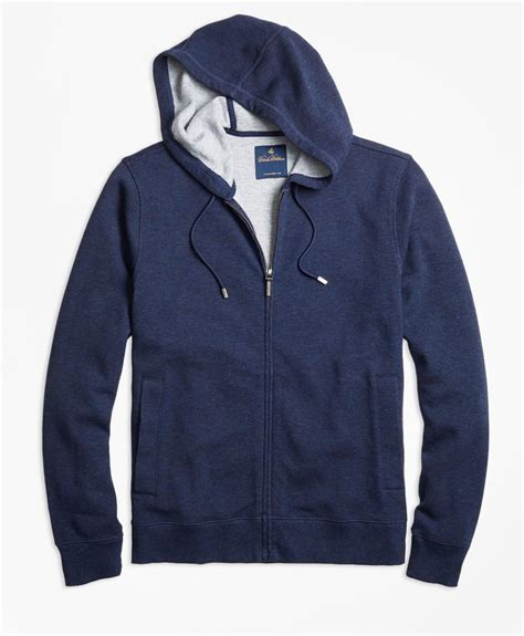 Hoodie Zipper Marine One Brothersapparel lyst brothers zip hoodie in blue for