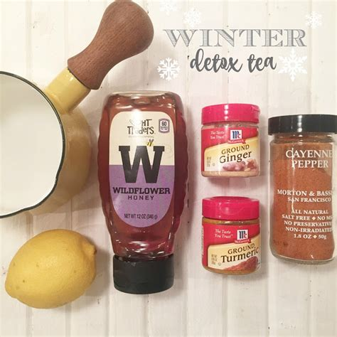Detox Tea Cold by Peace Food Winter Detox Tea