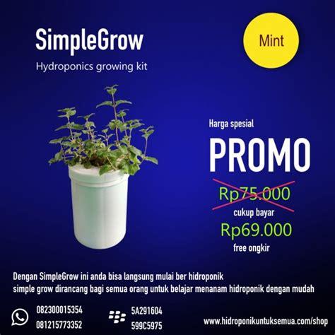 Jual Kit Hidroponik Bandung simplegrow kit hidroponik murah cocok untuk pemula jual