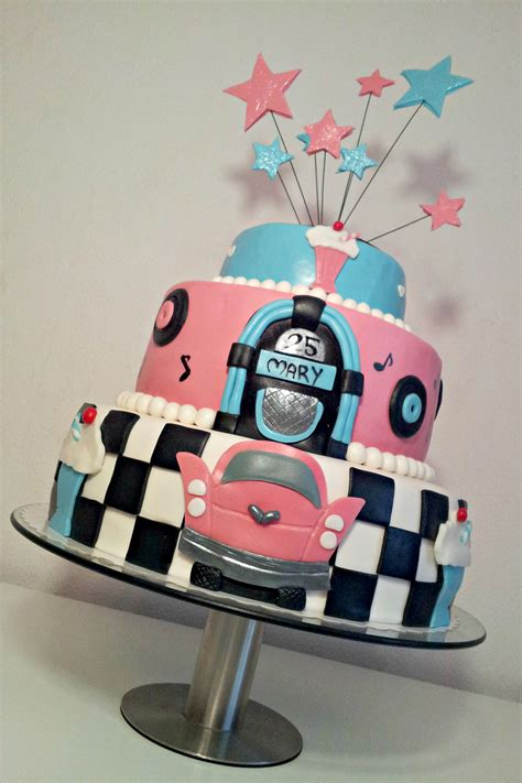 50s themed decorations 50 s theme cake cakecentral
