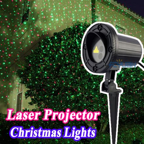 garden lawn laser light green blue laser christmas lights