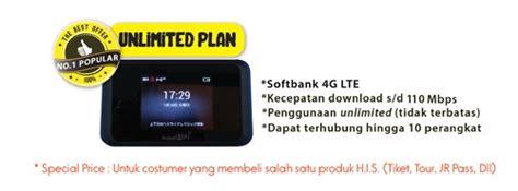 Wifi Kuota Unlimited di jepang