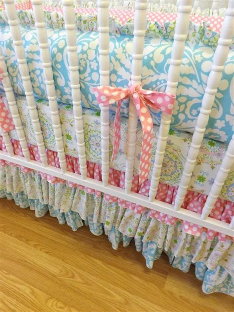 Ready To Ship Shabby Chic Baby Girl Crib Bedding Crib Shabby Chic Crib Bedding