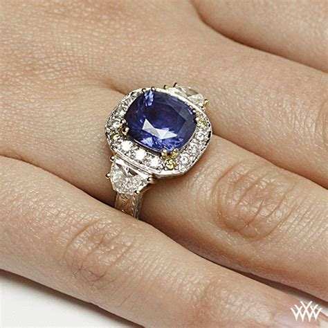 Things To Learn About Diamonds From Loosediamondsreviews by Elizabeth Blue Sapphire Right Ring 2394