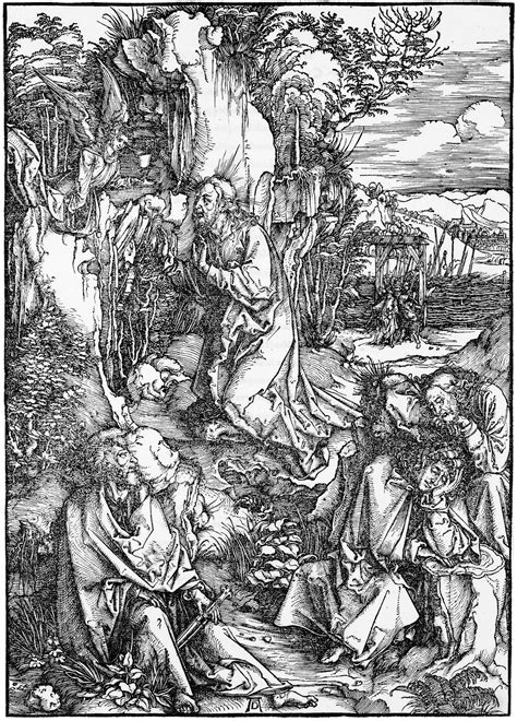 Durer: The Large Passion: 2. Christ on the Mount of Olives