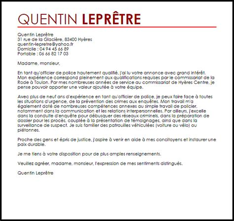 Exemple De Lettre Judiciaire Exemple Lettre De Motivation Officier De Livecareer
