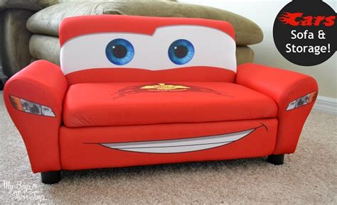 cars sofa for toddlers lightning mcqueen sofa with storage review my boys and