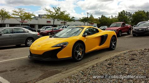 mclaren 650s spotted in east lansing michigan on 09 13