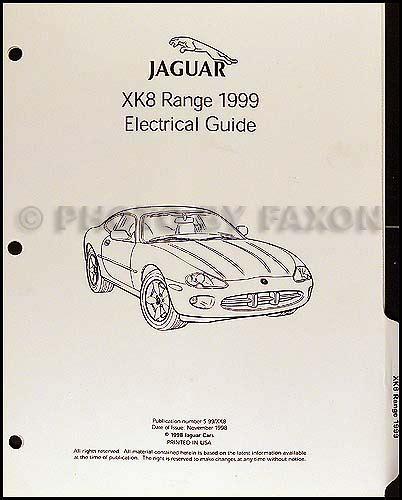 1999 jaguar xk8 electrical guide wiring diagram original