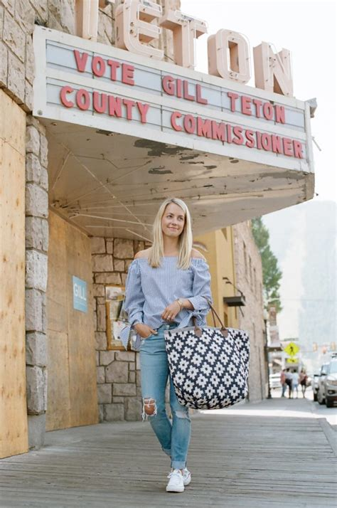 annie selkie blue and white annie selke tote in jackson hole wyoming