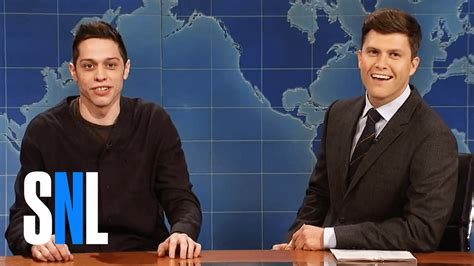 pete davidson update snl weekend update pete davidson on going bald snl youtube