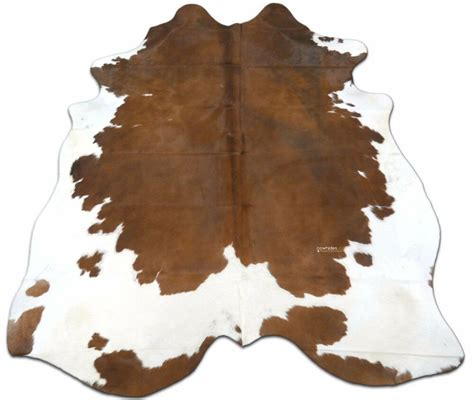 White Cowhide Rug - brown white cowhide rug size 7 x 7 ft spotted cow hide